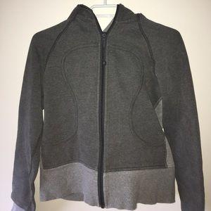 Gray zip up Lululemon hoodie